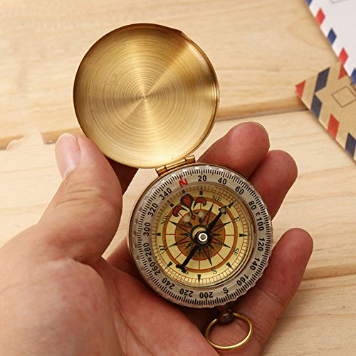 sevenmye-mini-brass-pocket-watch-style-outdoor-camping-hiking-compass-navigation-keychain