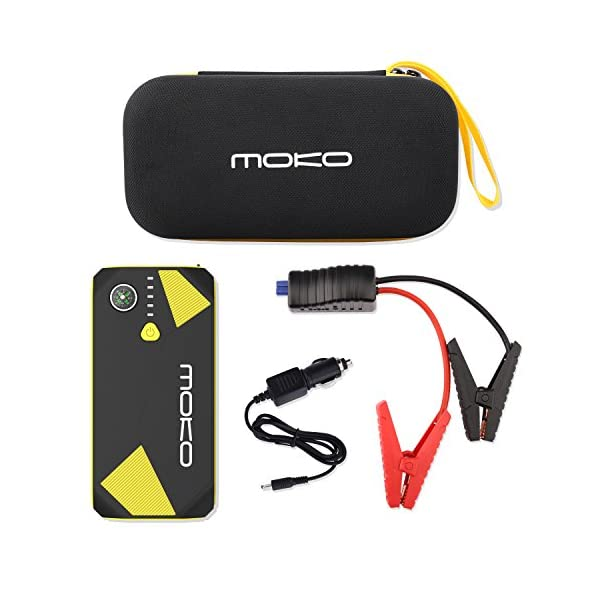 MoKo 500A Peak Car Jump Starter, 13800mAh 12V Auto Emergency Booster (Up to 5L Gas and 3.5L Diesel Engine), Portable…
