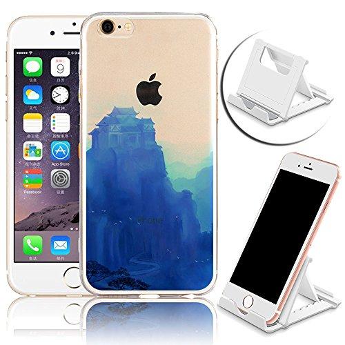 iPhone 7 Hülle, iPhone 7 Schutzhülle, Vandot Handyhülle für iPhone 7 Handytasche (4.7 Zoll) TPU Sillikon Diamant Bling Kristall Transparent Muster Case Cover Glänzend Malerei Durchsichtig Thin Pattern Color 3