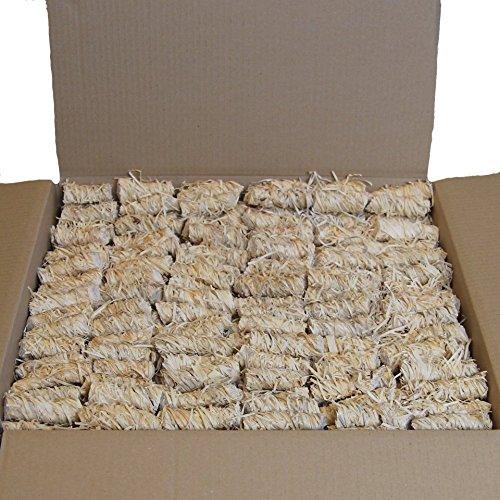 Effektiver Bio-Anzünder aus Holzwolle und Wachs mit 8-10 Minuten Brenndauer - geruchlose Anzündhilfe für Grill Kamin und Ofen aus Deutschland - Start a Fyah 5 kg ca. 320 Stück