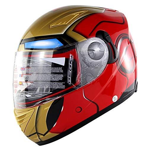LGF Helmet Único Exquisito Aspecto Moto Casco Invierno