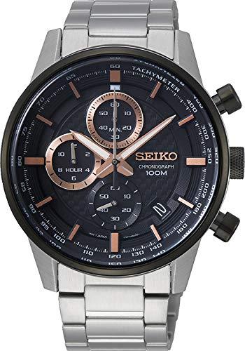 Seiko Orologio Cronografo Quarzo Unisex Adulto con Cinturino in Acciaio Inox SSB331P1