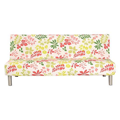 PengXiang - Funda para futón, sofá, Funda lisa/multicolor, tamaño completo, plegable, elástica,...