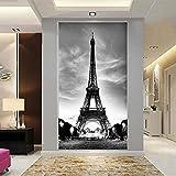Loaizh Personalizado Decoracion Decoración Para El Hogar Personalizada Torre Eiffel Entrada Pasillo Collage Decoraciones Restaurante 3D Papel Pintado Mural Pegatinas De Pared 250Cmx180Cm