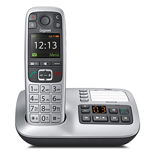 Gigaset E560A PLUS Schnurlostelefon + Freisprech-Clip mit SOS-Funktion - Hausnotruf - Anrufbeantworter / Grosse Tasten Telefon - platin - 11