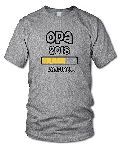 shirtloge - OPA 2018 LOADING... - KULT - Fun T-Shirt - in verschiedenen Farben - Größe S - XXL Grau-Meliert