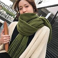 CXIGUA Schals Von Frauen Winter Reine Farbe Schals Dual-Purpose Studenten Verdickt Warmen Kragen.