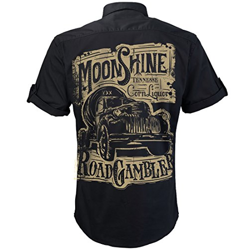 ROAD RODEO Worker Shirt, Hemd, Rock'n'Roll, Pick Up, Schnaps, ()