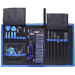 78 en 1 Kit Juego de Destornilladores de Precisión,Destornillador Portátil mit Magnéticos, Herramientas de Repareción de iPhone,Relojes Electróncos,iPad,PC,Macbook,etc.
