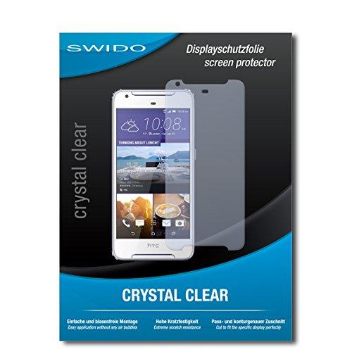 SWIDO Schutzfolie für HTC Desire 628 Dual SIM [2 Stück] Kristall-Klar, Hoher Härtegrad, Schutz vor Öl, Staub & Kratzer/Glasfolie, Bildschirmschutz, Bildschirmschutzfolie, Panzerglas-Folie