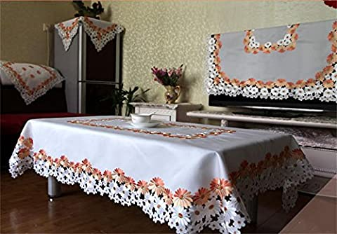 LILSN- Continental tablecloths cover coffee table towel refrigerator openwork embroidery