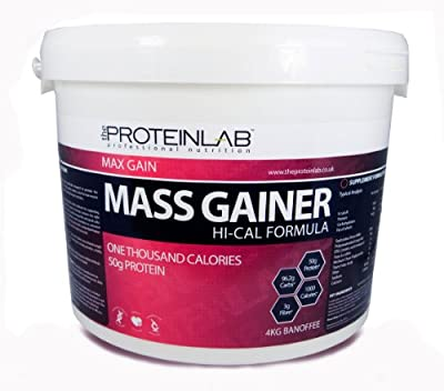 4kg Hi - Cal Weight Gainer - Whey Protein Powder Weight Gain. Mass Gainer + Bcaa's by The Protein Lab