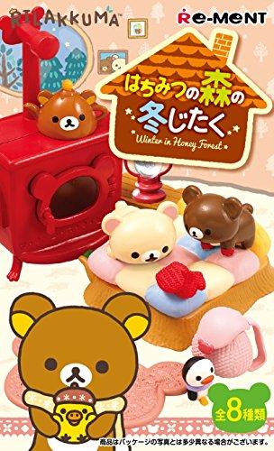 Cofanetto completo 8 pacchetti figura miniatura Rilakkuma Hachimitsu no Mori no Fuyujitaku 8Pack BOX