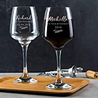 Personalised Retirement Gifts For Women Engraved Wine Glass/Leaving Gifts For Colleagues/Leaving Presents For Men And Women