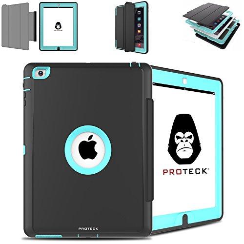 Anti Shock Fall Ipad 2 3 4 - Shell Verstärkter für Apple iPad 2 iPad 3 iPad 4 - Triple Schutz, Shell mit Multifunktions-Set im Standby / Awake Automatik - Himmelblau