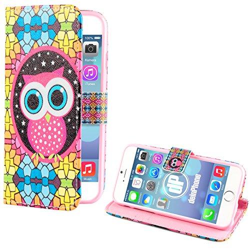 "deinPhone Apple iPhone 6 6S (4.7"") SILIKON CASE Hülle deinPhone Eule Mosaik Eule Große Augen"