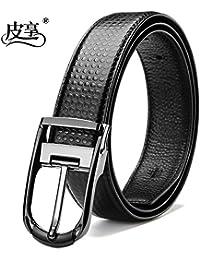 LLZZPPD Cinturón Correa de Pin Masculino Joven cinturón de Mediana Edad de  la Boda  76135f80e335