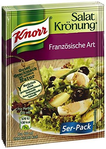 Knorr Salatkrönung Französische Art Salatdressing (5 x 5er-Pack) (Französisch-kraut-salat-dressing)