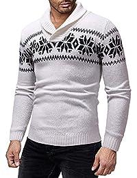 friendGG❤ ❤️Strickwaren Herren Weihnachten Sweatshirt Sweater Strickjacke  Cardigan Christmas Männer Knitwear Coat Jacket 5f867938a3