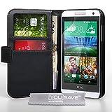 Yousave Accessories Etui en cuir pour HTC Desire 610 Noir