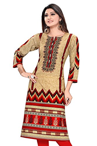 PLUS SIZE WOMEN A-LINE LONG PAKISTANI STYLE KURTI  available at amazon for Rs.649