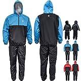 RDX Tuta per la sudorazione effetto sauna, aiuta a perdere peso e a slennire, ideale per la corsa, l'allenamento e la palestra, Blue, XL