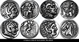 Grec Dieux et Déesses Collection 4S Pièces de Monnaie Alexandre le Grand,