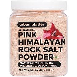 Urban Platter Pink Himalayan Rock Salt Powder Jar - 1.25Kg