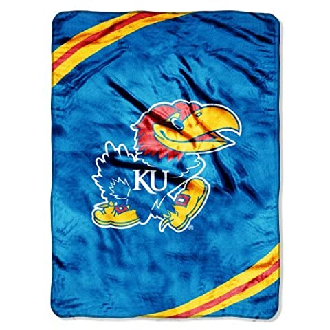 NCAA Kansas Jayhawks Force Royal Plush Raschel Throw Blanket, 60x80-Inch by Northwest