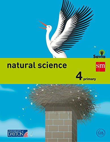 Portada del libro Natural science. 4 Primary. Savia - 9788415743736