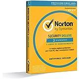 NORTON - Norton Security Deluxe 2018 Licenza per 3 Dispositivi per 1 Anno - Licenza ESD (Electronic Software Distribution)