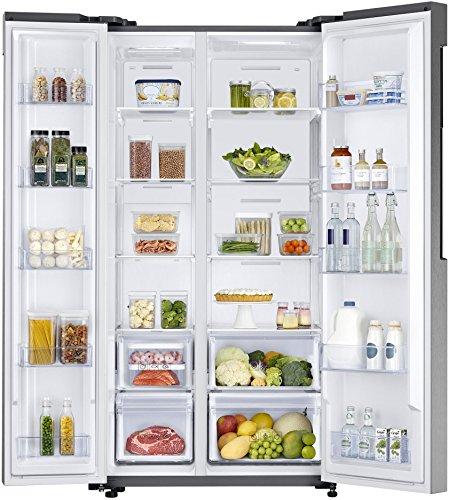 Samsung 674 L Frost Free Side-by-Side Refrigerator(RS62K60A7SL/TL, Stainless Steel, Inverter Compressor)