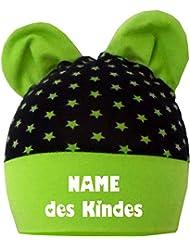 mitwachsende Baby - Kinder Mütze mit Ohren - mit Namen Ihres Kindes / in 4 Designs / Größen 35 - 53