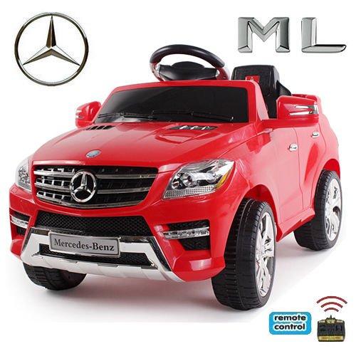4 X 4 Bretter (Original Mercedes-Benz ML 4x4 4MATIC 350 SUV Lizenz Kinderauto Kinderfahrzeug (ROT))