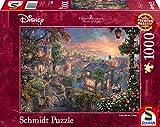 Schmidt Spiele Puzzle 59490 Thomas Kinkade, Disney, Susi und Strolch, 1000 Teile, bunt