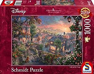 Schmidt Spiele Puzzle 59490Thomas Kinkade, Disney, susi y strolch, Puzzle de 1000Piezas, Multicolor
