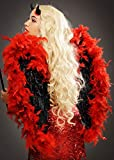 Struts Deluxe Diamante Black And Red Feather Angel Wings