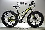 Cicli Ferrareis Fat Bike 26 in carbonio nera Giallo personalizzabile