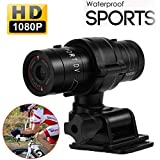 Hangang Mini Videocamera Sportiva 1080p Full HD Impermeabile Sport bici Casco videocamera DVR Video camcorder Support 32GB TF Card Ideal for climbing Skiing riding etc