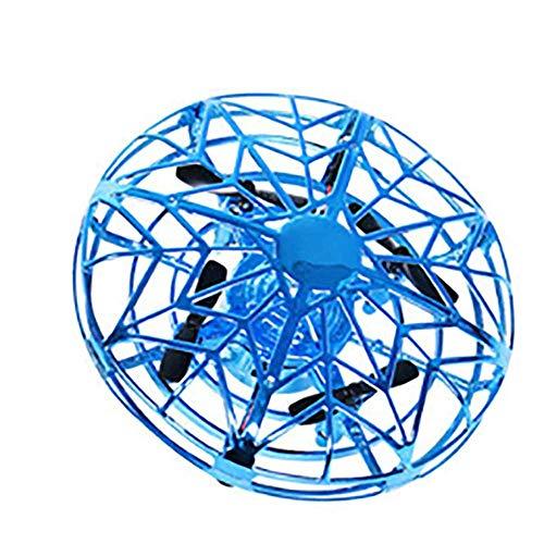 ZSJZSJ Fliegende Spielzeug-Drohnen Induktions-Drohne FüR Kinder Mini-Drohnen Handgesteuertes Fliegendes Ball-Drohnen-Spielzeug Mit Gesten-Fernbedienung Und Led-Licht FüR Kinder,Blue