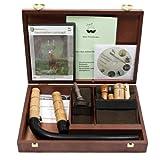Weisskirchen Premium-Lockjagdset in edler Holzkassette, Lockinstrument, geeignet für die Jagd oder...
