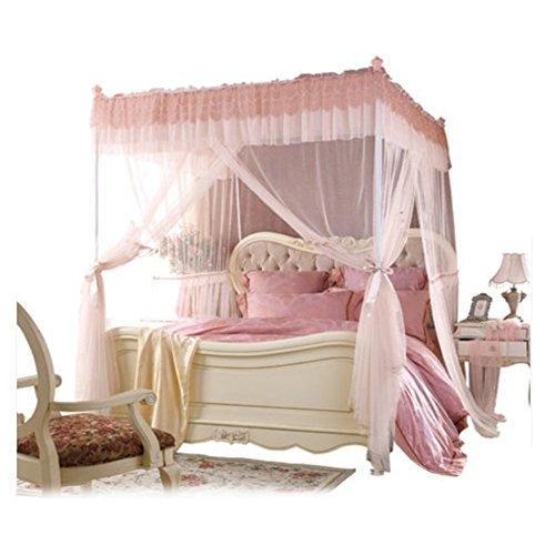 LSS Moskitonetze Natürliche Windnetze Tür-Zu-Tür Dreitürige Erhöhung Verschlüsselung Prinzessin Prinzessin Netze 1,5/1,8 Bett,1.8*2M