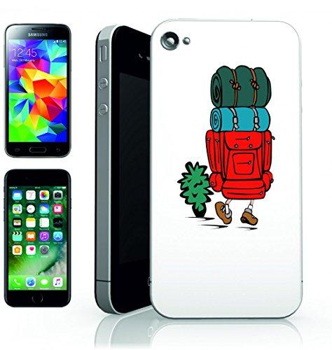 Smartphone Case escursioni di campeggio all aperto sacco a pelo Zaino Zaino Turistica di Avventura di Migrazione della vita stile di viaggio per Apple Iphone 4/4S, 5/5S, 5C, 6/6S, 7& Samsung Gala