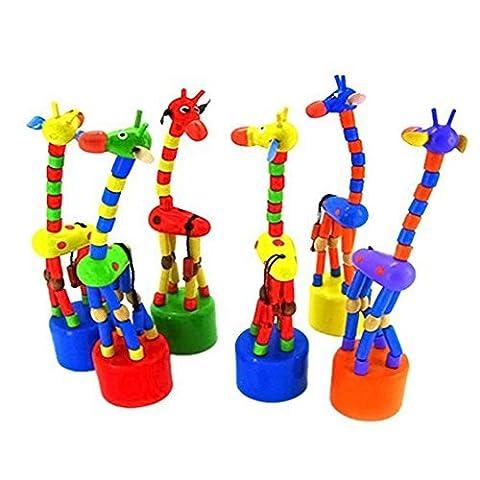 Tasmine Kid Entwicklung Spielzeug Baby Dancing Rocken, stehend Holz Bunte Giraffe Spielzeug
