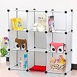 chinkyboo Interlocking Shoe Organiser Organizer Shoes Toys Storage Rack Stand Cube Holder (White)