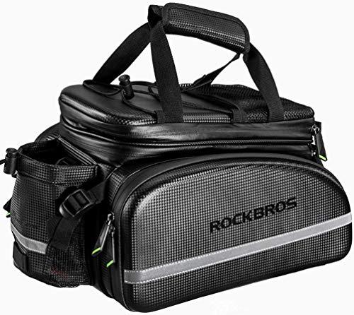 ROCKBROS Fahrrad Hinter Gepäckträgertasche 10-35L Kameratasche Praktisch Wasserdicht Fahrradgepäckträgertasche Transporttasche Fahrradtasche