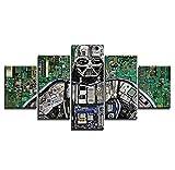 JRDWLH Stampe e Quadri su Tela-5 Pezzi Guerre Stellari Poster Quadro Quadro su Tela Immagini HD Immagini di Interni Soggiorno Oggettistica per La Casa [B] con Cornice/Stampe e Quadri su Tela