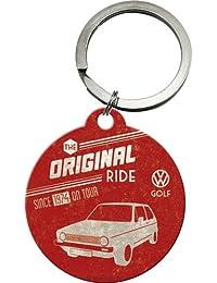 Nostalgic-Art 48004 Volkswagen VW Golf - The Original Ride, Schlüsselanhänger Rund, 4 cm