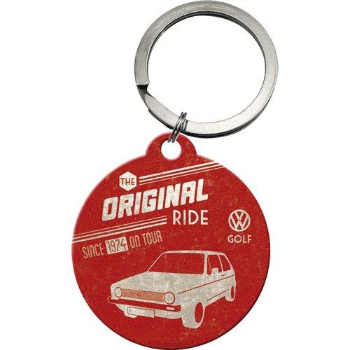 Golf-zubehör-geschenke (Nostalgic-Art 48004 Volkswagen - VW Golf - The Original Ride, Schlüsselanhänger Rund 4 cm)