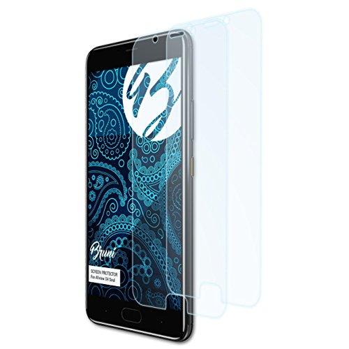 Bruni Schutzfolie kompatibel mit Allview X4 Soul Folie, glasklare Bildschirmschutzfolie (2X)